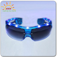 Top quality PC led light toy glasses, led party decoration half frame LED sunglasses