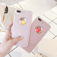 Hot selling cute fruit phone cover case for Iphone 6/6 plus/7/7plus, transparent phone case cover for Iphone7
