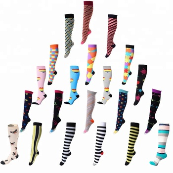 fbc81d66a78 Amazon Hot Sale Fancy Design Women Knee High 16-18 mm  HG Compression  Stocking