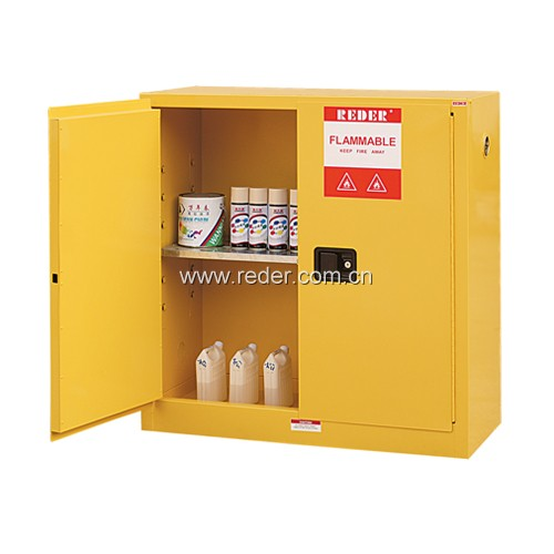 Industrial Chemical Flammable Storage Cabinet With Yellow Color