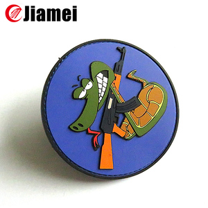 Jiamei Customized shape clothing labels rubber pvc label