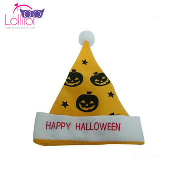 Custom pumpkin Halloween accessories happy Halloween pumpkin hats for kids adult