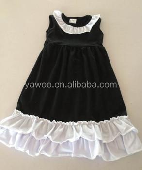 2dcb3508f1726 New Outside Need Children Baby Girls Black White Soft Cotton Ruffles  Dresses Summer Party Funeral Event Wear Costume Dresses - Buy Baby Girls  Black ...
