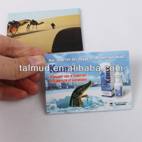 picture customized metal fridge magnetic for promotional
