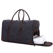 2019 Toile <span class=keywords><strong>Sac</strong></span> De Voyage Étanche <span class=keywords><strong>Sac</strong></span> de Bagage avec Boîte À Chaussures pour Hommes