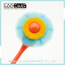 LOOKING Cute Felt Flower Shaped Ball Pen with Fan Function