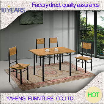 Home Furniture Walnut Color Dining Room Table And Chairs Good Price - Walnut color dining table