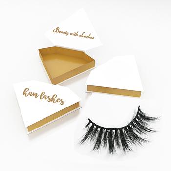 38d981b97a7 Diamond shape eyelashes box 100% real mink fur eyelash cruelty free own  logo mink lashes