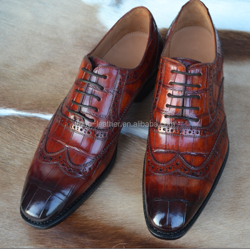 8ae55455a401 Patina Crocodile Skin Shoes for Men