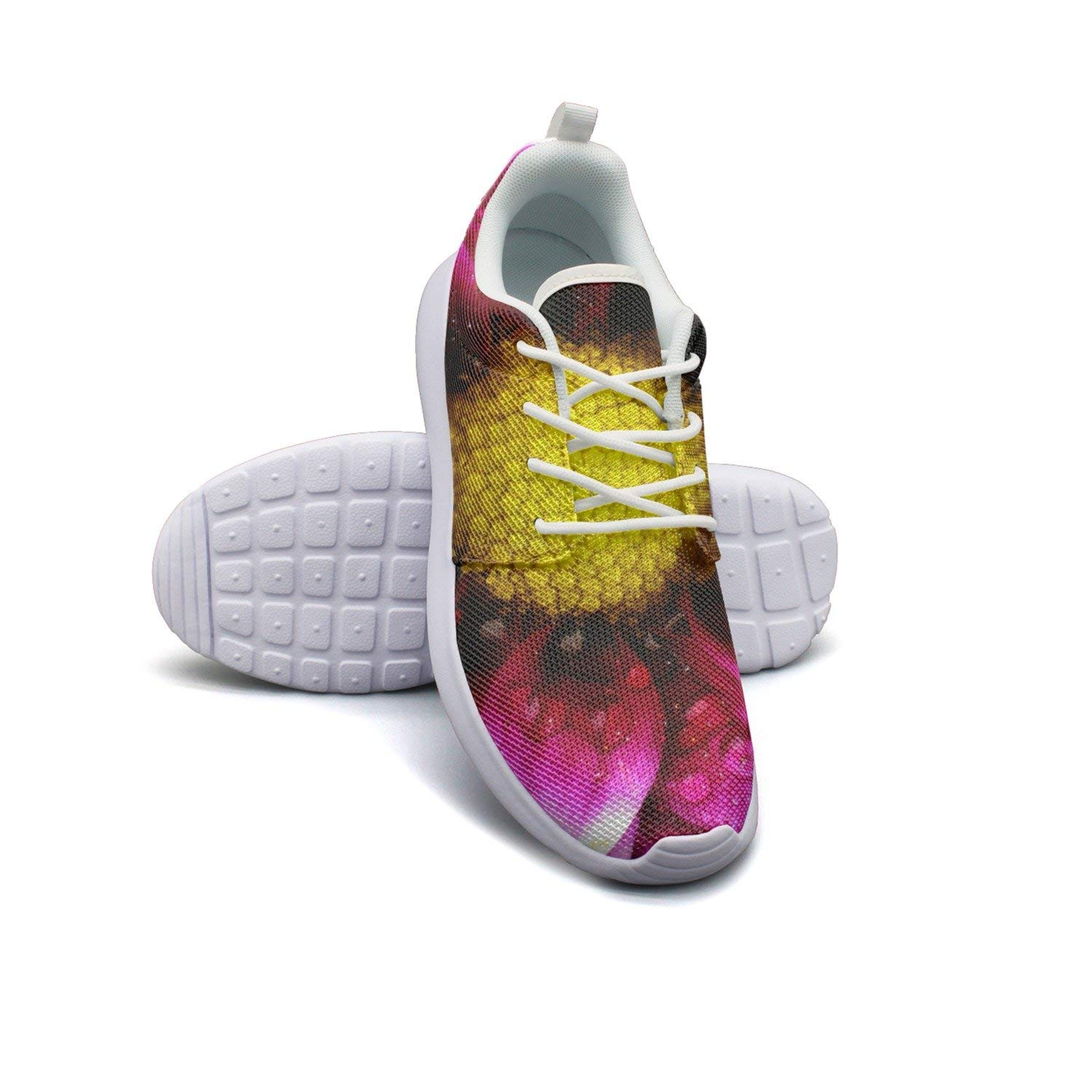 HJXJESSIE Woman Tropical Pink Flower Running Shoes Jogging Runner Sports Sneakers