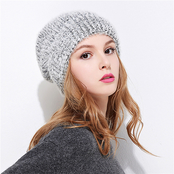 Winter Knitted Hat Faux Fur Ball Unisex Kids Beanie Hat