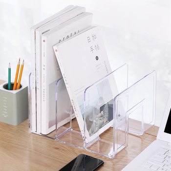 Custom Clear Acrylic Bookshelf Stand Books Display Plexiglass Shelf Magazine
