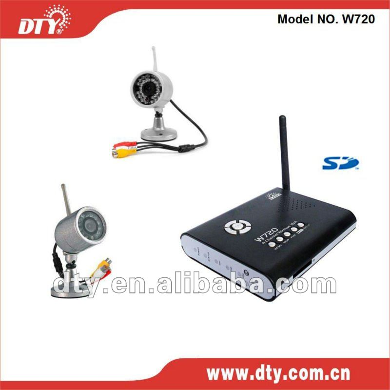 2.4Ghz wireless dvr and wireless camera recofding sytem