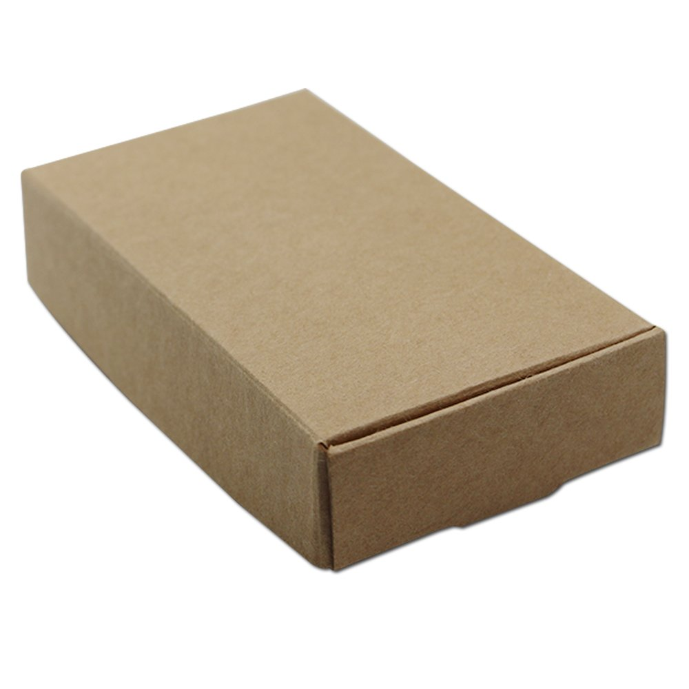 """30Pcs 11x6x2cm (4.3""""x2.4""""x0.8"""") Brown Kraft Paper Boxes Wedding Party Small Gift Box Handmade Soap Cake Chocolate Box Jewelry Pearl Crafts Packaging Box"""