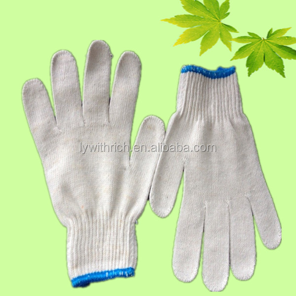 long work gloves fingerless gloves string knit cotton gloves with pvc dots For Construtions Bulk From China en388