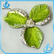 Fashion large green wholesale enamel flower brooches