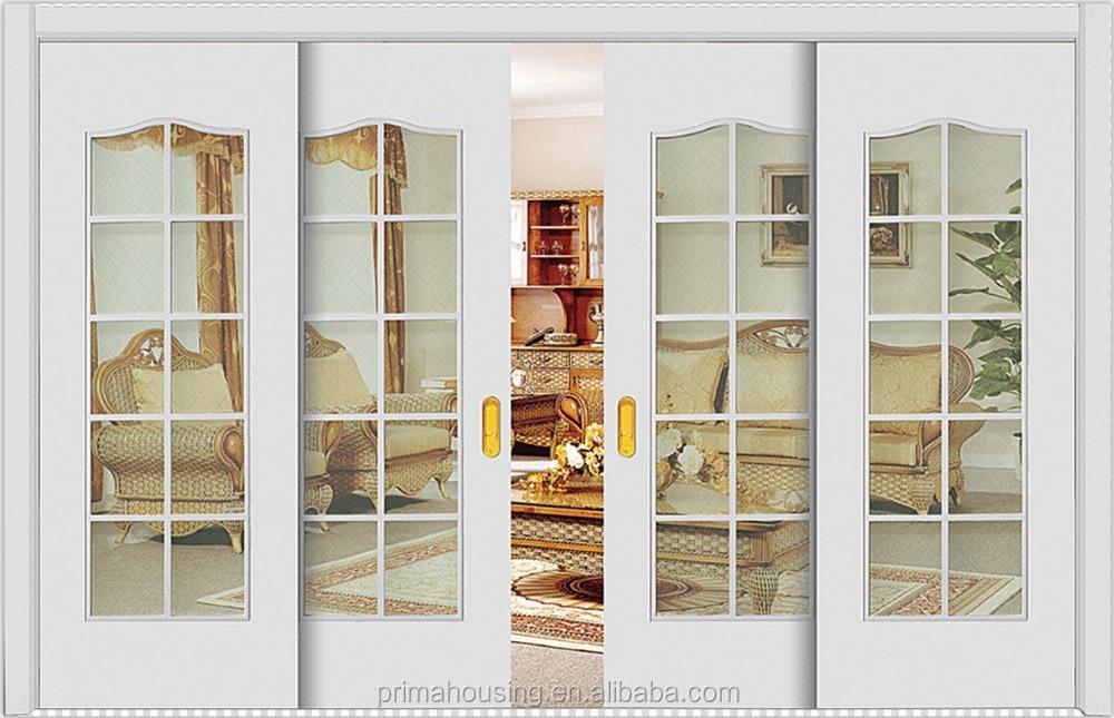 Moderate Design Aluminum Door Frame Frosted Glass Closet Sliding