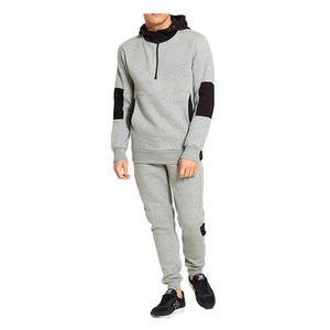 Mens Sports Training & Jogging Wear Tracksuit 2018 Contrasted Blank Winter Joggers Set with Track Pants