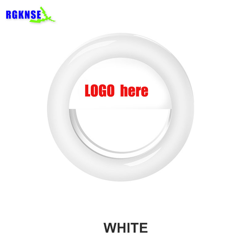 2019 Mini Hot Selling Camera Mobiele Telefoon micro Mini Draagbare selfie ring licht RK14 oplaadbare Selfie ring flash Led Light