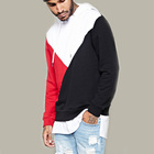 New arrival oversized mens clothing loop back multi color drawstring hoodie