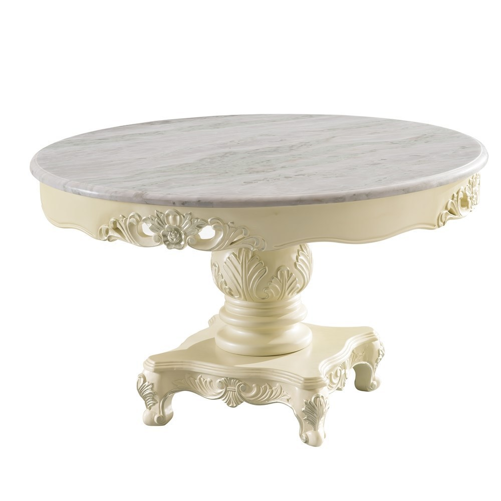Modern classic furniture round marble dining table prices with dinning chair