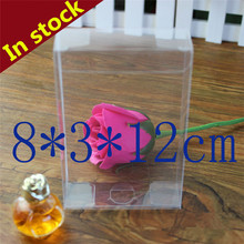 3*8*12cm pvc box gifts & crafts clear container packaging box