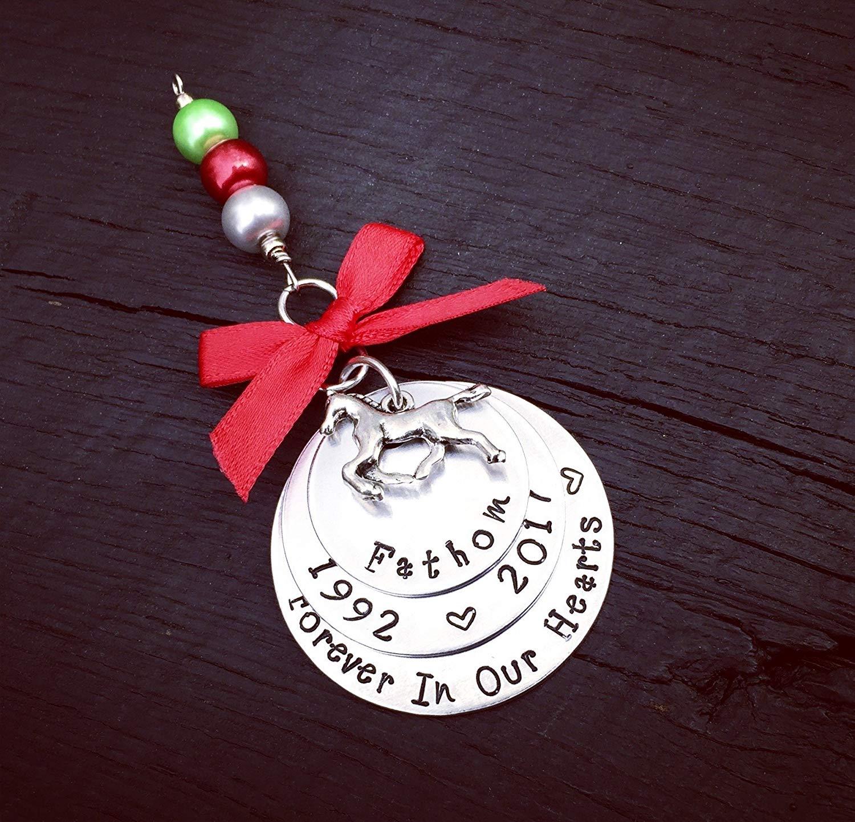 Horse Memorial Ornament | Pet Memorial Ornament | Keepsake Memorial Ornament | Remembrance Memorial Ornament | Pet Christmas Ornament | Rainbow Bridge Memorial Ornament