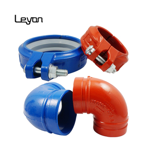 ductile iron grooved mechanical tee light-duty rigid coupling 22.5 elbow bolt mechanical tee - ductile iron grooved pipe fitting