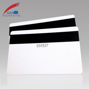 Blank Hotel Electronic Key Cards PVC Magnetic Stripe RFID Card