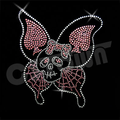 Crystals rhinestones iron on skull patches