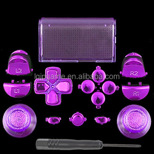 New Crystal Full Set Button Kits For Ps4 Controller For Playstation 4 Full  Crystal Buttons Kits - Buy Crystal Button For Ps4 Controller,For Ps4