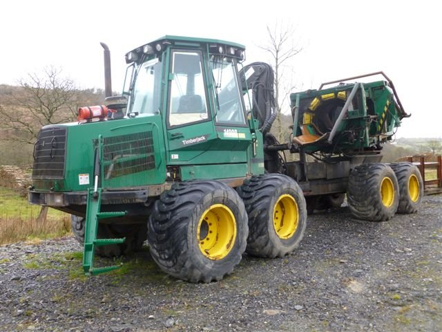 Timberjack 1490D with Brash Baler fitted