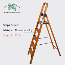Household Portable Movable 5 Step Folding Aluminium Ladder Step