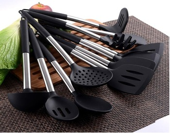 11 Pieces Silicone Kitchen Utensils Sets Silicone Kitchenware Cooking Tools With Stainless