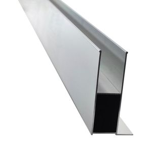Exterior Frameless Aluminium U channel Glass Balustrade Profile for outdoor balcony railings