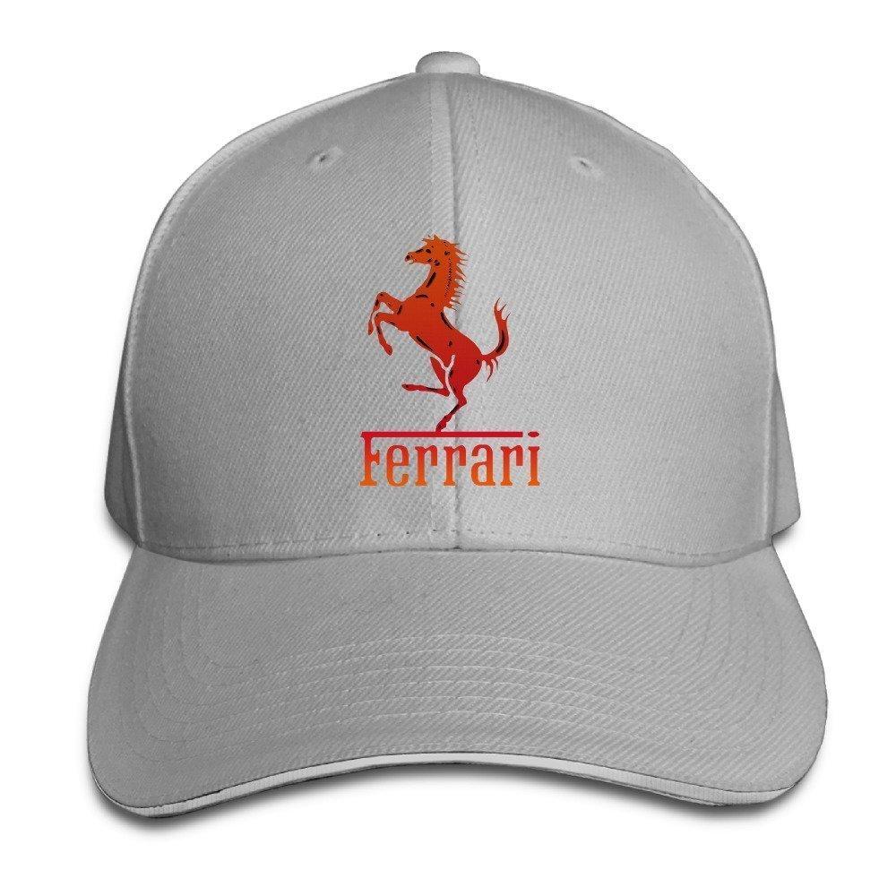 Get Quotations · MaNeg Ferrari Team Sandwich Peaked Hat   Cap 4d9792024fab