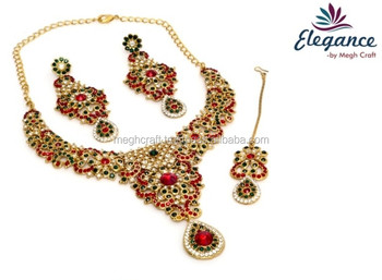 d2f242605 Latest Indian Rhine stone fashion designer jewelry-Rhinestones jewelry- Online wholesale Pakistani bridal fashion