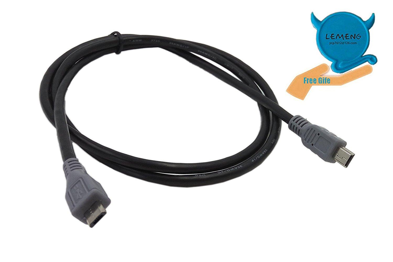 CERRXIAN USB OTG Cable - Black, Type Micro Male to Mini Male Cable (1m)