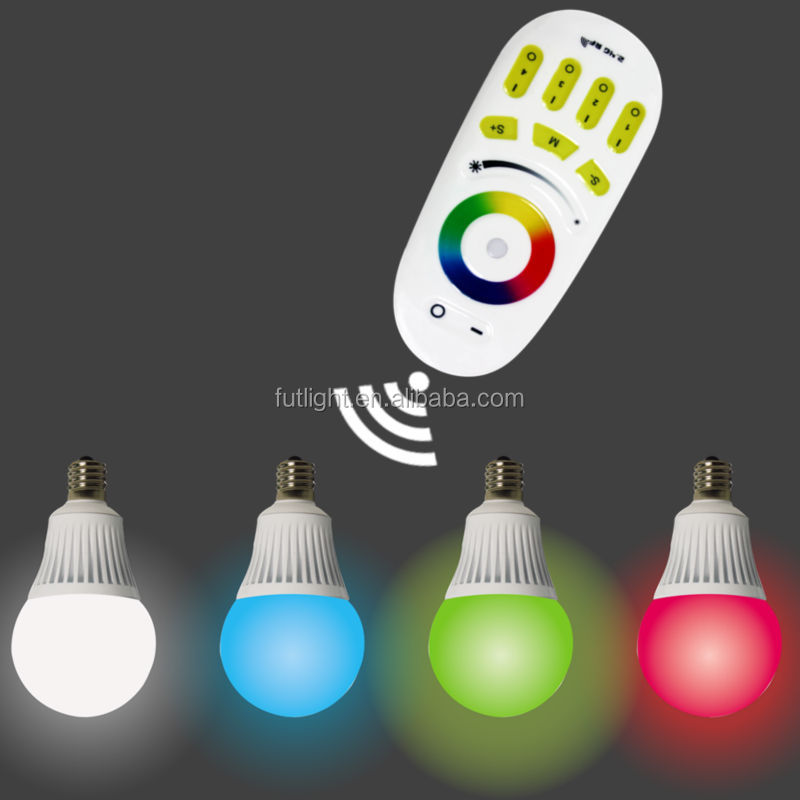 Best selling led light plastic clad bulb 6w e27 wireless rgb color change bulb wifi control led bulb lighting programmable