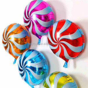 Lollipop foil balloon colorful candy balloon round shaped balloon