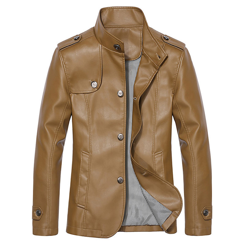 Buy Brand Faux Leather Jacket Men Winter Jackets Mens Leather ...