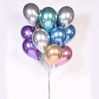 Wholesale 12inch Decoration Stuffing Latex Metallic Foil Chrome Party Ballon Balloon
