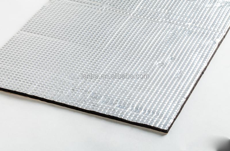 hot vente de haute qualit auto adh sif en aluminium voiture de feuille isolation acoustique. Black Bedroom Furniture Sets. Home Design Ideas
