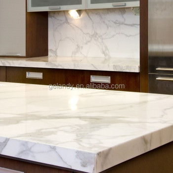 Marble Like Artificial Stone Quartz Countertops With Veins