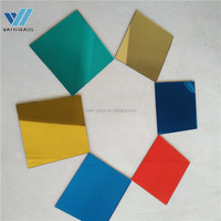 Chinese factories provide high quality and cheap color flat decorative glass pieces