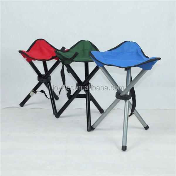 Cheap Metal Folding Chair Camping 3 Legs Folding Stool Folding Tripod Stool F