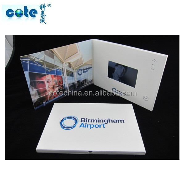 Hot product !!! 4.3 inch advertising video digital catalogue/4.3inch LCD magazine/ LCD screen customized advertising card