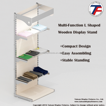 Standing Desk| L Shaped Wooden Display Stand