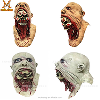 MOLEZU TOY Halloween Horror Blurp Charlie Latex Mask For Holiday Deluxe Bloody Zombie Face Melting Walking Dead Prop