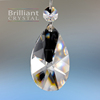 Brilliant cut teardrop crystal chandelier pendants drop